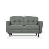 Otterson Genuine Leather 59 Flared Arm Loveseat by Corrigan Studio®