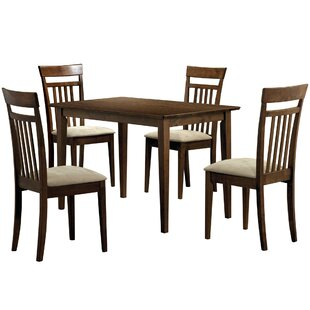 5 Piece Solid Wood Dining Set Monarch Specialties Inc.