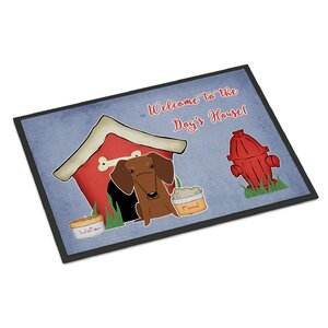 Dog House Dachshund Doormat