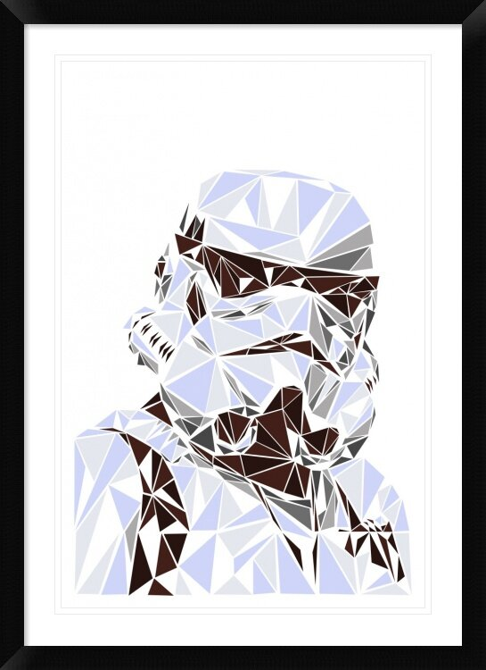 Stormtrooper Neon Framed Photographic Print 30x40cm16x12 inches