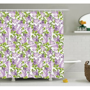 Burnes Botanic Spring Plants Shower Curtain by August Grove