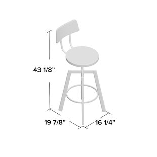 Karly Adjustable Height Bar Stool by 17 S..