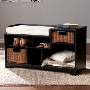 Darby Home Co Conde Wood Storage Bench