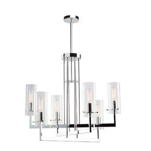 Orren Ellis Aqunita 6-Light Shaded Chandelier