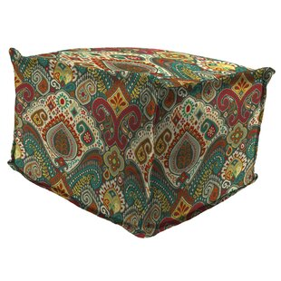 Wilford Flange Edge Pouf Ottoman with CuShion
