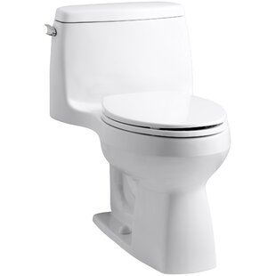 Kohler Santa Rosa Comfort Height One-Piece Compact Elongated 1.6 GPF Toilet with Aquapiston Flush Technology and Left-Hand Trip Lever
