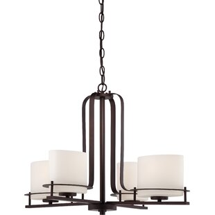 Foundry Select Daryl 4-Light Shaded Chandelier