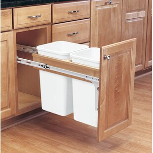 Double Top Mount 6.75 Gallon Pull Out/Under Counter Trash Can by Rev-A-Shelf