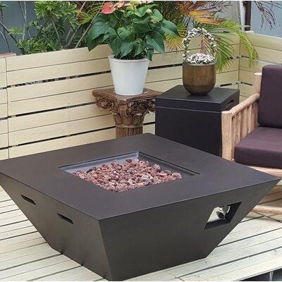 Geoffroy Concrete Propane Fire Pit Table Brayden Studio Finish: Brown