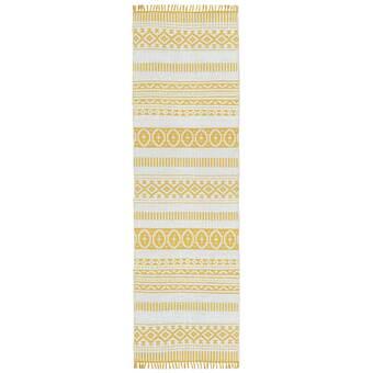 East Urban Home Armendariz Patchwork Wool Yellow Area Rug Wayfair