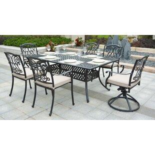 cast aluminum patio furniture wayfair ca rh wayfair ca aluminum patio table with umbrella hole aluminum patio table seats 8