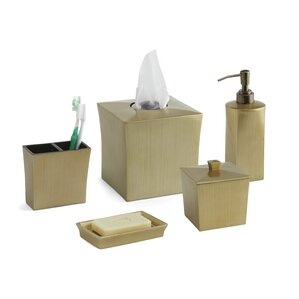 Cooper 5 Piece Bathroom Accessory Set Gold Accessories You ll Love  Wayfair