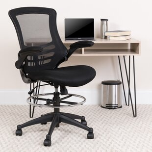 Archimedes High-Back Mesh Drafting Chair by Wrought Studio Cheap
