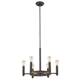 Reviews Bouvet 6-Light Wagon Wheel Chandelier By Laurel Foundry Modern Farmhouse