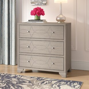 Inexpensive Candice Nail Head 3 Drawers Accent Chest ByHouse of Hampton
