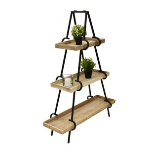 Jurnee Pyramid 3 Layers Bookcase by Gracie Oaks