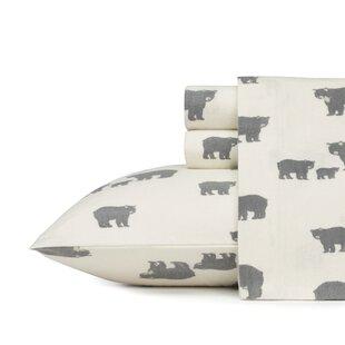 bear family 100 cotton flannel sheet set
