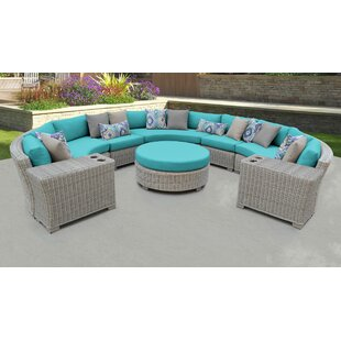 Coast 8 Piece Outdoor Sectional Seating Group Set with Cushions