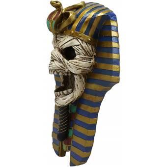 The+Screaming+Mummy+Cobra+and+Vulture+Mask+of+Pharaoh+Egyptian+King+Tut+Bust+Wall+D%25E9cor.jpg