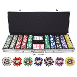 500 Piece Big Slick Poker Chip By JP Commerce