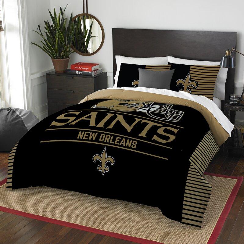 Saints Bathroom Set: Northwest Co. NFL Saints Draft 3 Piece Queen Comforter Set