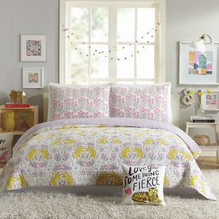 Tiger Flower Reversible Quilt Set