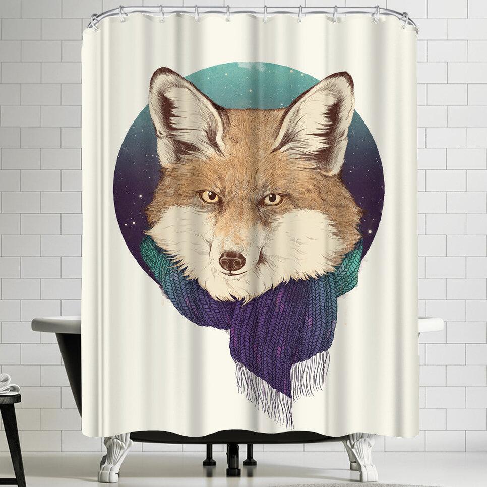 East Urban Home Laura Graves Fox Shower Curtain