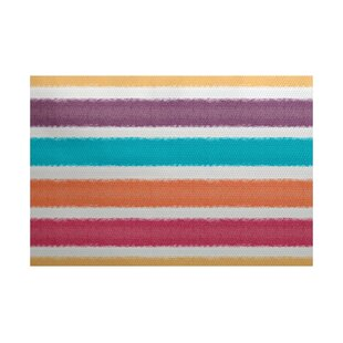 Reviews Golden Gate Purple/Orange/Blue Indoor/Outdoor Area Rug ByBeachcrest Home
