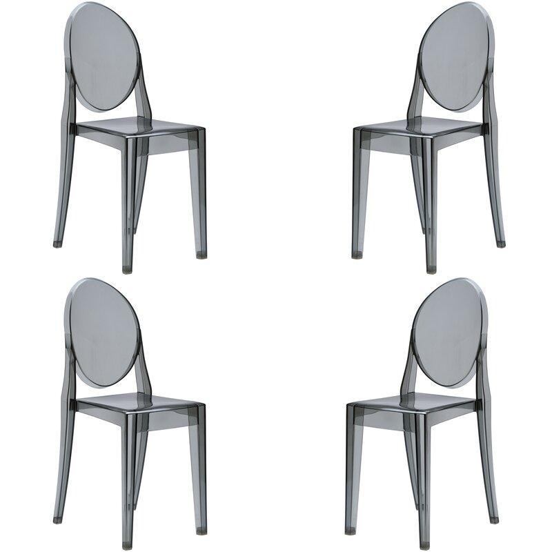 Everly Quinn Bentlee Stacking Patio Dining Chair & Reviews ...