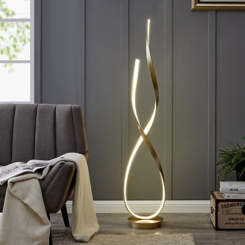 Orren Ellis Knobel 55 Led Novelty Floor Lamp Reviews Wayfair