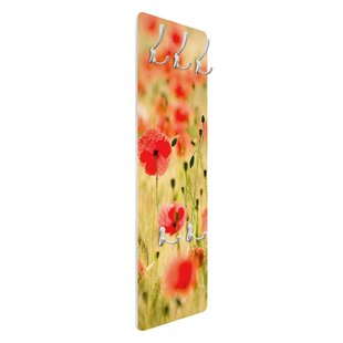 Summer Poppies Wall Mounted Coat Rack By Symple Stuff