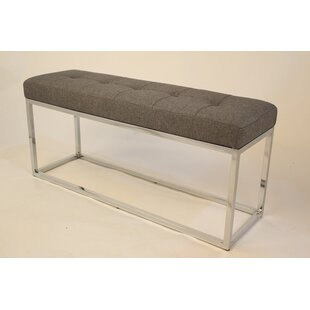 Orren Ellis Hwang Modern Narrow Metal Bench