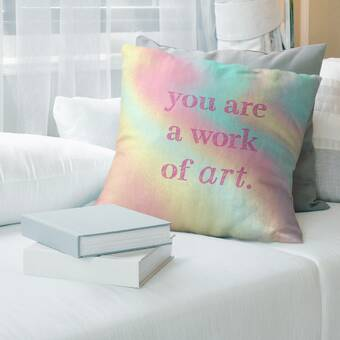 East Urban Home Pi Creative Art Winters Trail I Lumbar Pillow Wayfair