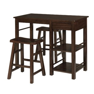 Jameel Counter Height Breakfast 3 Piece Pub Table Set