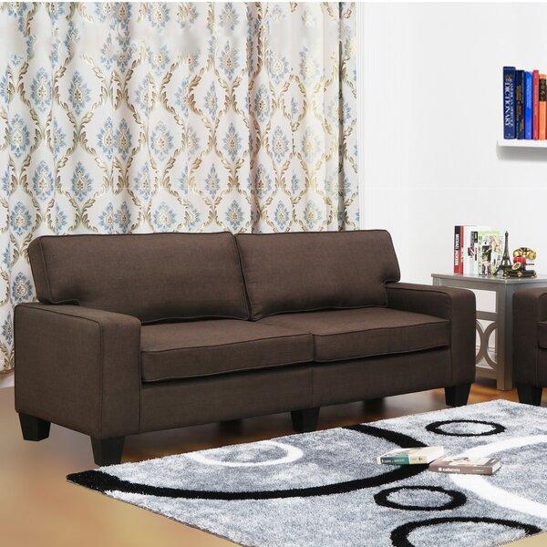 Living In Style Jordan Linen Modern Living Room Sofa & Reviews | Wayfair