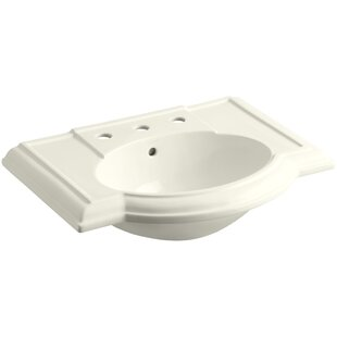 Price Check Devonshire® Ceramic 28 Pedestal Bathroom Sink with Overflow By Kohler
