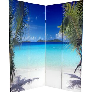 Affordable Kight Ocean 4 Panel Room Divider By Latitude Run