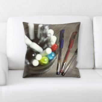 Ivy Bronx Grondin Art And Craft Pencil Drawing Throw Pillow Wayfair