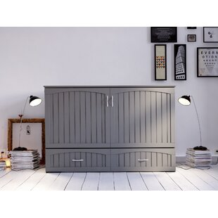 Aucoin Queen Storage Murphy Bed with Mattress by Canora Grey