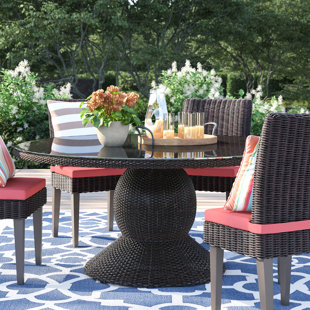 Stratford Glass Dining Table by Sol 72 Outdoor