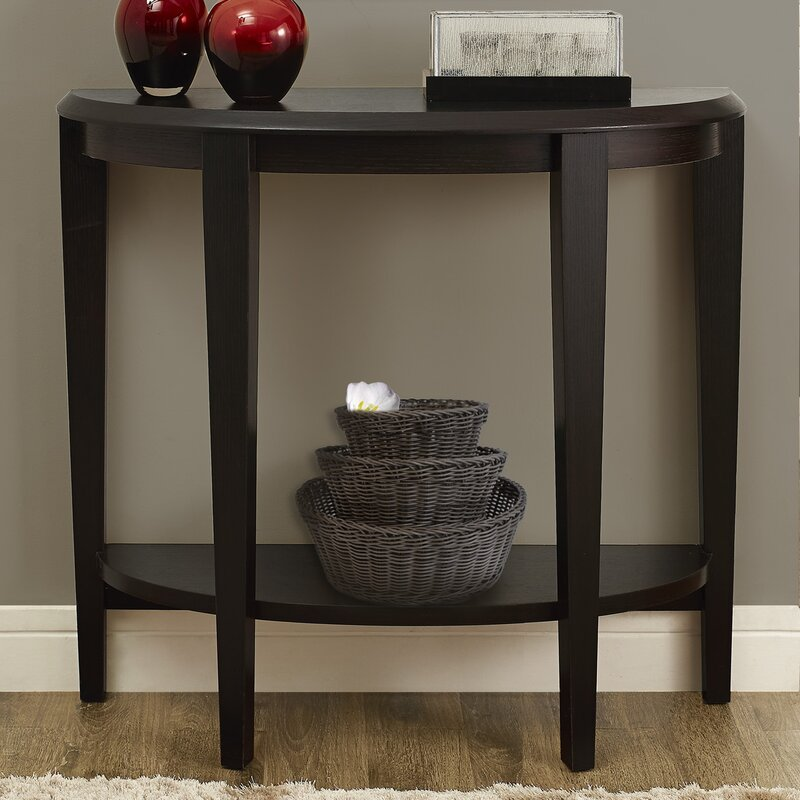 Andover Mills Blakeway Half Moon Console Table Reviews Wayfair