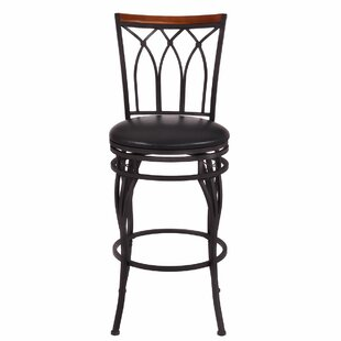 Dexter Vintage Adjustable Height Swivel Bar Stool Fleur De Lis Living