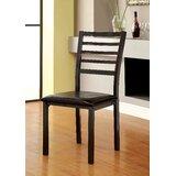 Sisag Ladder Back Side Chair in Black (Set of 2) by Winston Porter