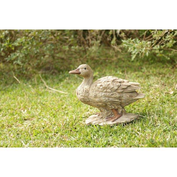 Garden New Life Like Figurine Statue Home Baby Duck Driftwood Look Figurine