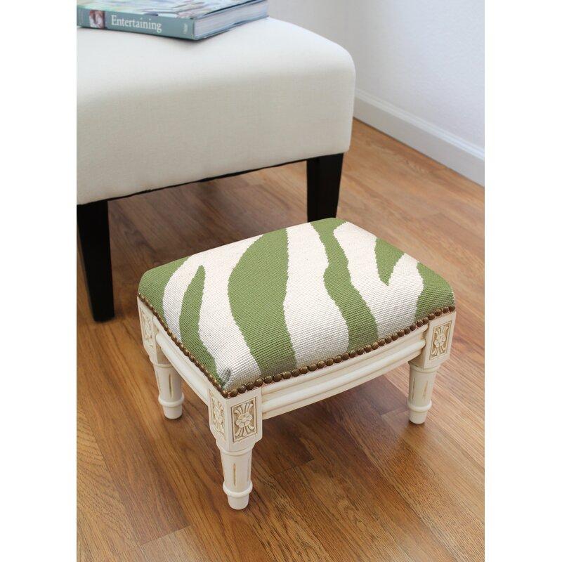 World Menagerie Charleville 14 Rectangle Animal Print Footstool Ottoman Wayfair