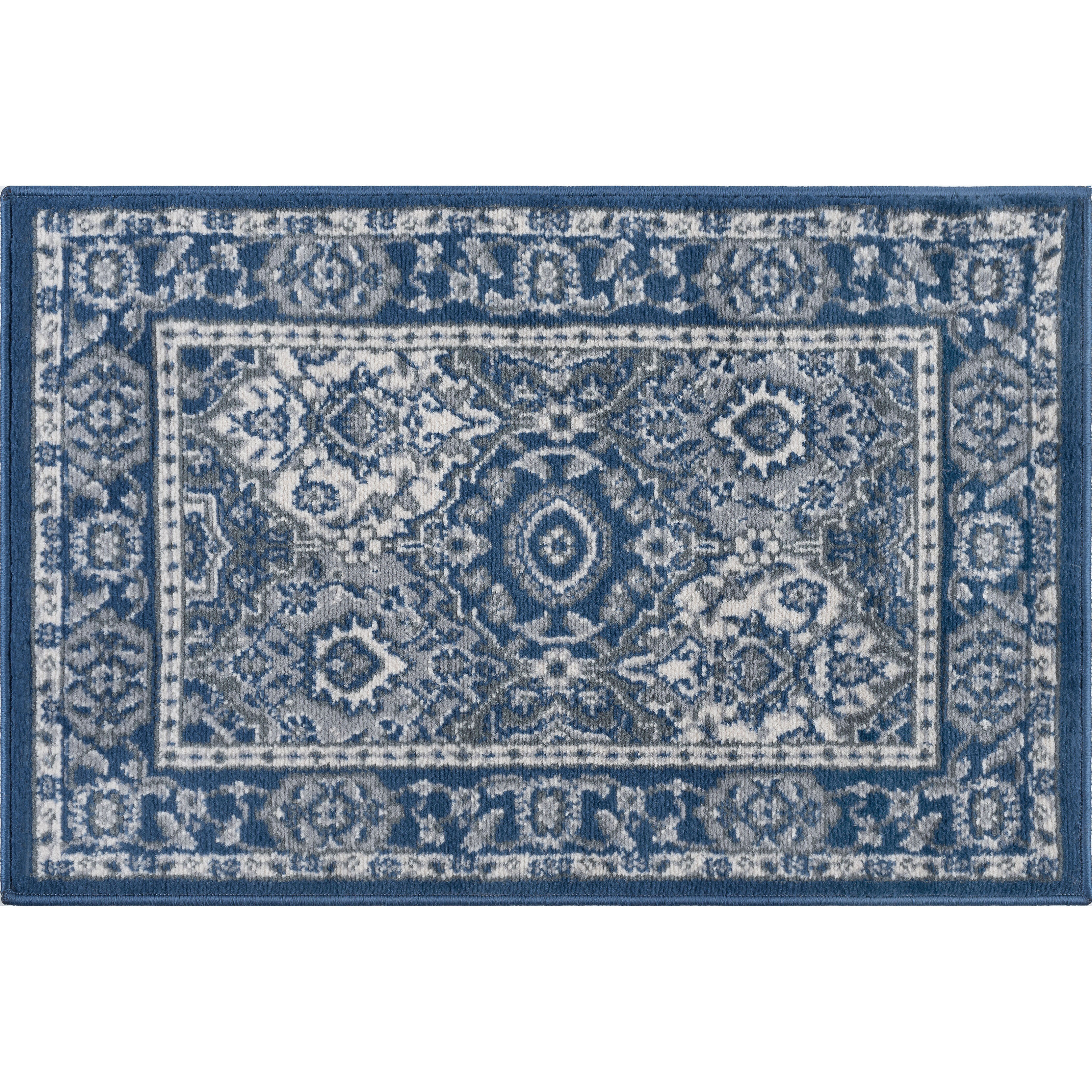 Darby Home Co Dolphus Traditional Oriental Navy Area Rug