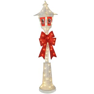 large pre lit victorian style christmas lamp post with led lights
