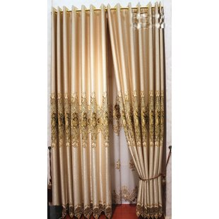 Decorative Embroidered Single Curtain Panel