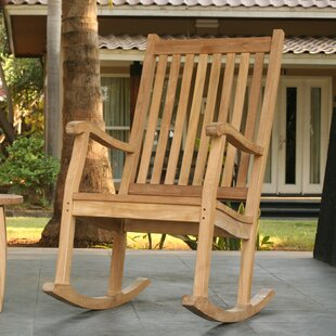 Georgia-May Teak Rocking Chair by Darby Home Co