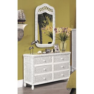 Santa Cruz 6 Drawer Double Dresser with Mirror